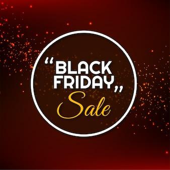 Il moderno banner di vendita venerdì nero luccica il vettore