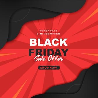 Banner di super vendita del black friday moderno b