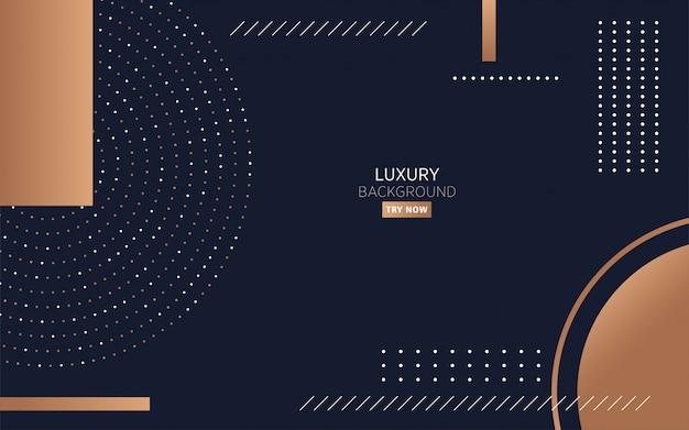 Sfondo di lusso moderno minimalista nero Vettore Premium