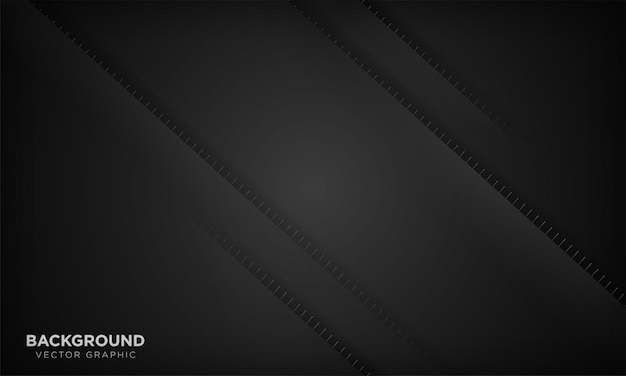 Sfondo geometrico minimale moderno in carta nera