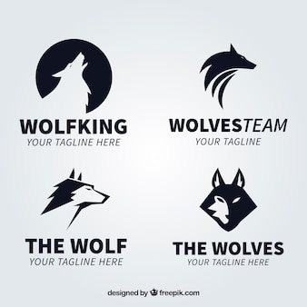 Moderno black wolf logo collectio