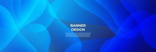 Priorità bassa blu moderna della bandiera. modello astratto del fondo del modello dell'insegna di progettazione grafica di vettore.