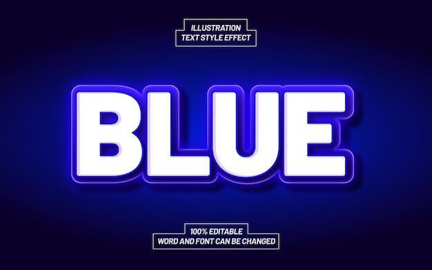 Effetto stile testo grassetto blu moderno