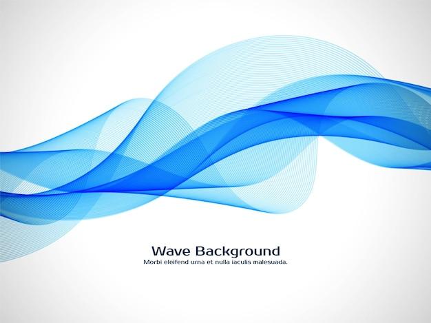Vettore decorativo moderno del fondo dell'onda blu Vettore Premium