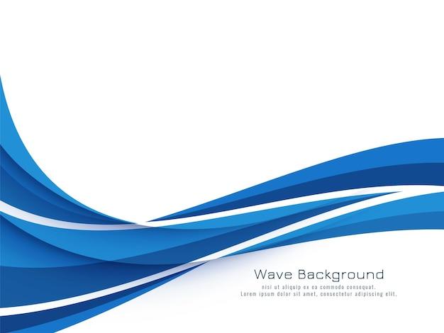 Vettore decorativo moderno del fondo di progettazione dell'onda blu