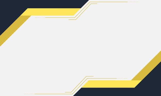 Sfondo moderno banner blu e giallo illustrazione vettoriale
