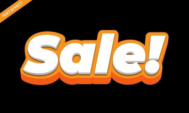 Effetto di testo moderno in grassetto arancione e bianco o effetto carattere