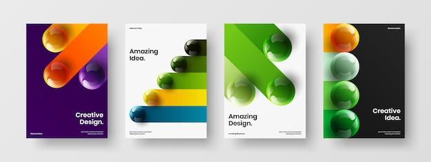 Insieme moderno dell'illustrazione di vettore di progettazione della copertina del libro