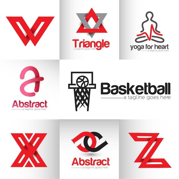 Yoga moderno di pallacanestro del ponte con l'elemento di disegno astratto di logo