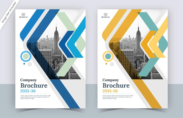 Design moderno del modello di copertina dell'opuscolo