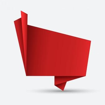 Origami moderno discorso bolla