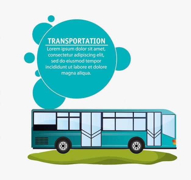 Moderno trasporto di autobus infografica