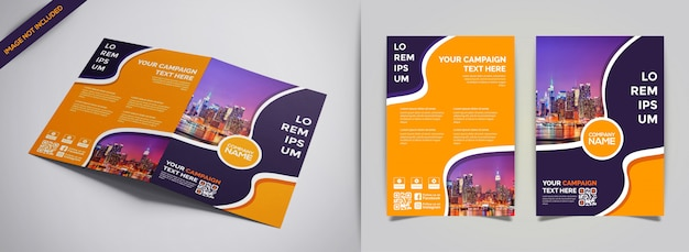 Modello creativo di moderno business brochure