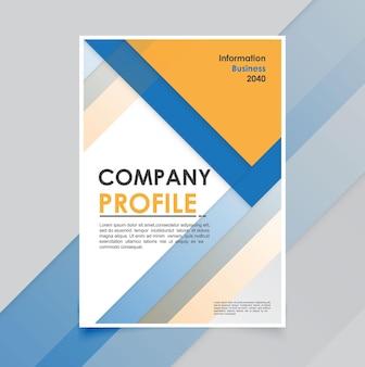 Minimo modello di brochure aziendale moderno
