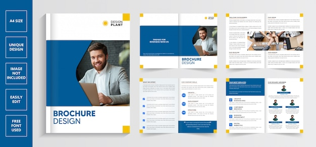 Modello di brochure business moderno