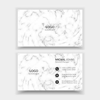 Biglietto da visita moderno professionale aziendale in bianco e nero