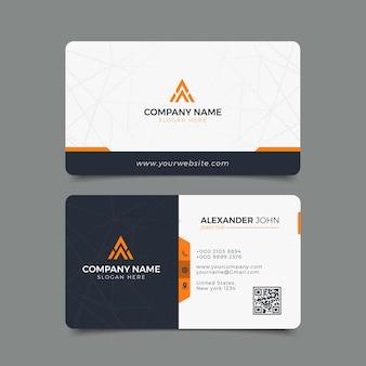 Biglietto da visita moderno corporate professional
