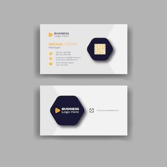 Modello di design moderno per biglietti da visita