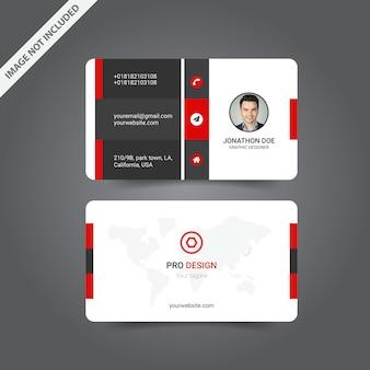 Design moderno biglietto da visita