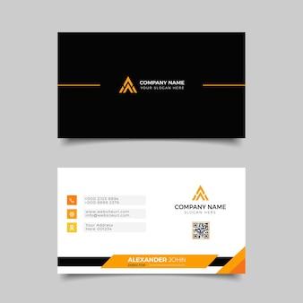 Biglietto da visita moderno bianco e arancione professionale elegante