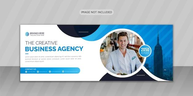 Progettazione di foto di copertina di facebook di affari moderni o design di banner web