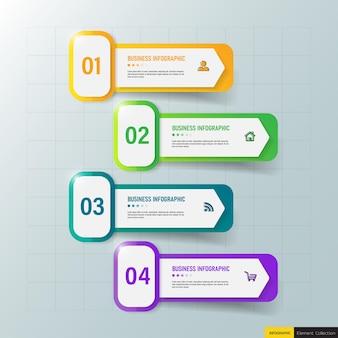 Design moderno modello di business infografica