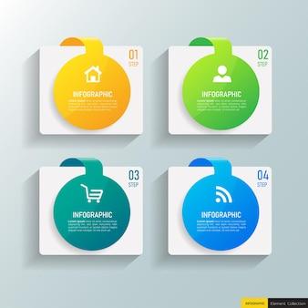 Design moderno modello di business infografica Vettore Premium