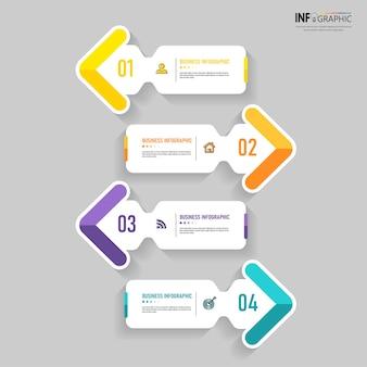Design moderno del modello di infografica aziendale