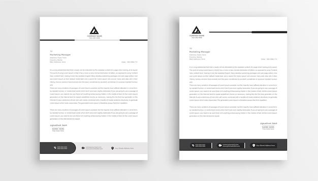 Carta intestata aziendale moderna in design astratto