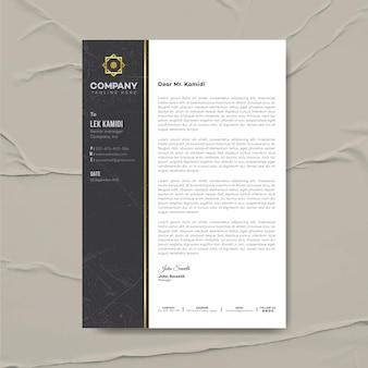 Modello di progettazione di carta intestata aziendale moderna, identità aziendale, carta intestata aziendale, cancelleria