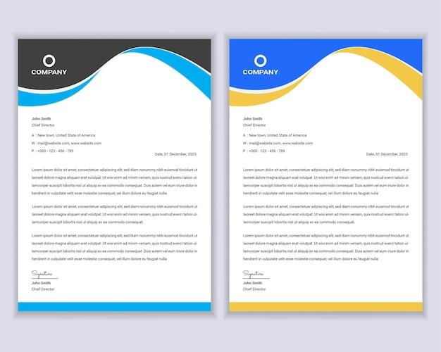 Modello di progettazione di carta intestata aziendale moderna