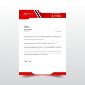 Carta intestata aziendale moderna e design di modelli professionali per fatture