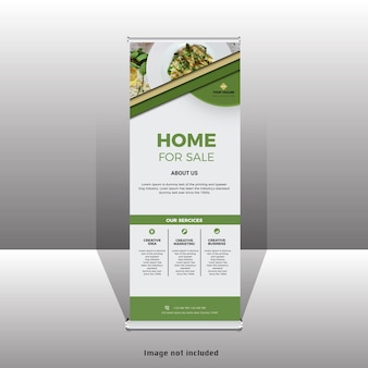 Banner standee rollup moderno business nuovo