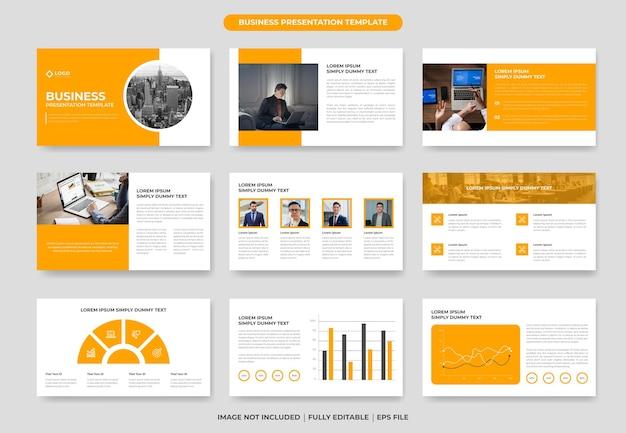 Design moderno del modello di diapositiva di presentazione di powerpoint di affari