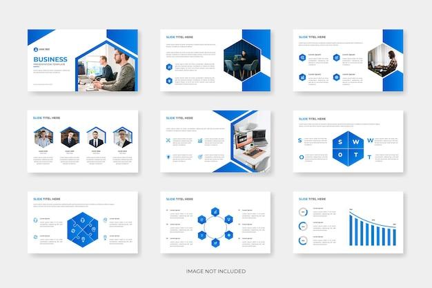 Modello di presentazione di diapositive powerpoint di business moderno