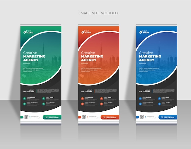 Banner roll up business moderno