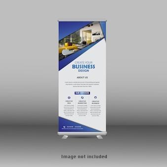 Design moderno del banner standee rollup aziendale Vettore Premium