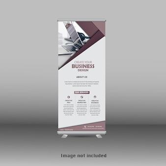 Design moderno del banner standee rollup aziendale