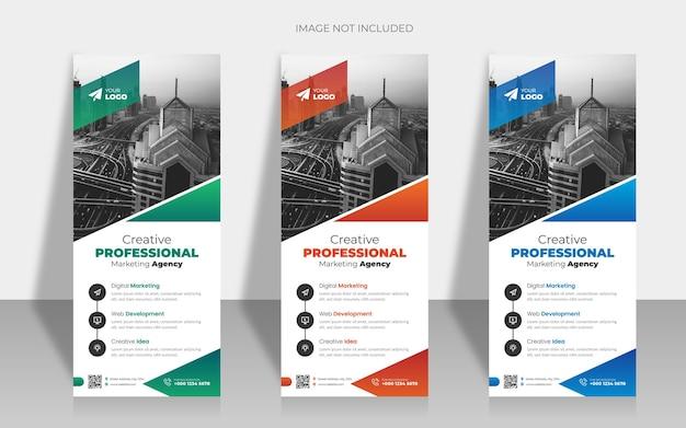 Modello di rollup aziendale moderno o x banner