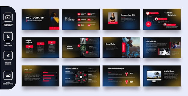 Moderno modello di presentazione di diapositive aziendali