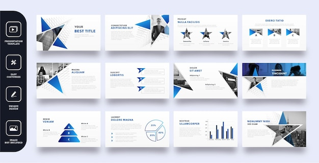 Modello di presentazione moderna di diapositive aziendali