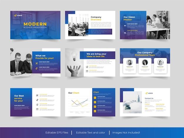 Modello di presentazione moderna per diapositive aziendali