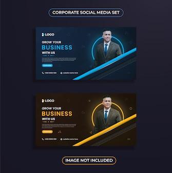 Progettazione di post sui social media aziendali moderni