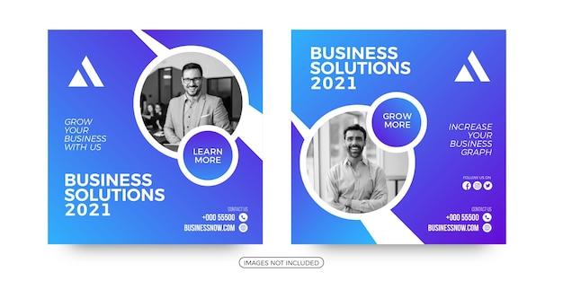 Modelli di post sui social media per soluzioni aziendali moderne