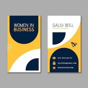 Modello di biglietto da visita moderno della donna di affari