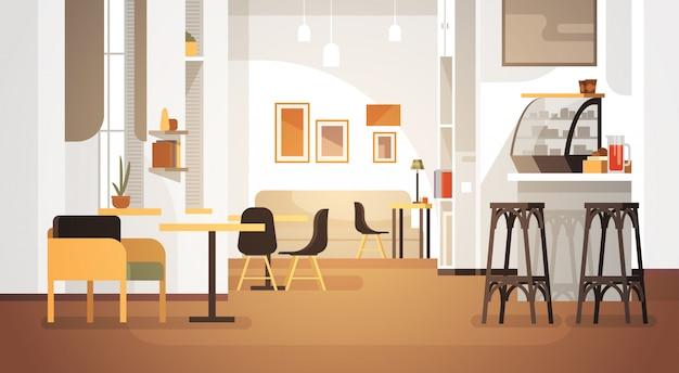 Modern cafe interior empty no people restaurant