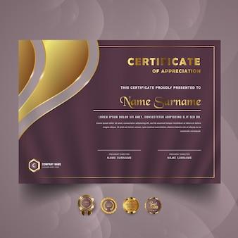 Design moderno del modello di certificato
