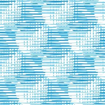 Linee moderne del cerchio del modello caotico in colore blu. cerchi astratti forme e strisce perfetta illustrazione del modello.