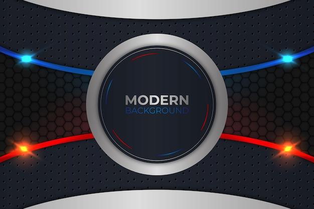 Cerchio moderno sfondo blu e rosso