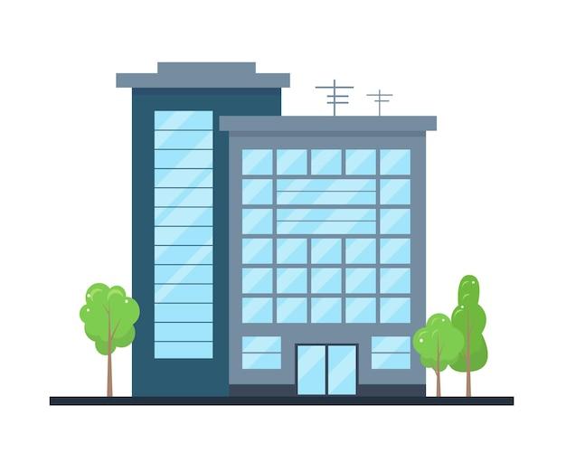 Esterno di un edificio moderno della città facciata del centro uffici o della casa d'affari